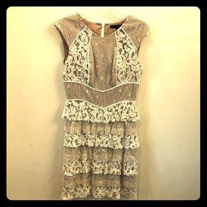 Bcbg ivory lace dress size 6